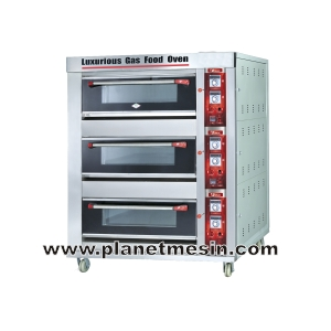 oven gas 3 deck